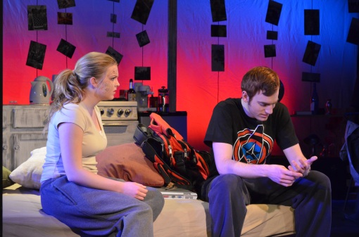 Sarah (Sydney Machesky) and James (Carl Ghigliazza)Photo: Kevin Replinger